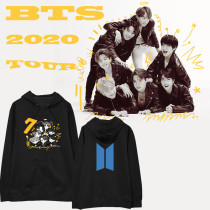 Kpop BTS Sweater Bangtan Boys 2020 Returns Q Edition Hooded Sweatshirt V J-HOPE JUNGKOOK