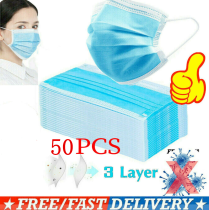 10/20/50 PCS Disposable Face Masks Anti Virus Flu Medical Mask 3-Ply Dustproof Mask