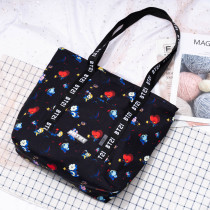Kpop BTS Shoulder Bag BT21 SPACE Series Printed Shoulder Bag Cute Convenient  Travel Bag CHIMMY COOKY TATA