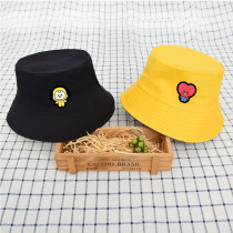Kpop BTS Hat Bangtan Boys Hat Visor Hat Basin Hat Double-sided Fisherman Hat Street Men and Women Summer COOKY TATA