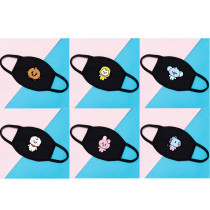 Kpop BTS Mask Bangtan Boys Mask Cotton Mask Three-layer Protection Dustproof Windproof Mask CHIMMY COOKY TATA
