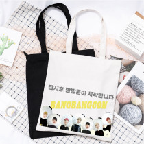 Kpop BTS Shoulder Bag Bangtan Boys Online Concert Commemorative Shoulder Bag Canvas Handbag