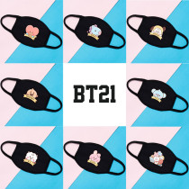 Kpop BTS Mask Bangtan Boys Mask Cotton Mask Three-layer Protection Dustproof Windproof Mask CHIMMY COOKY TATA KOYA