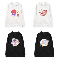 Kpop BTS Sweater Bangtan Boys Hooded Sweater Q Version Cartoon Cute Korean Version Loose Jacket Sweatershirt