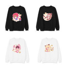 Kpop BTS Sweater Bangtan Boys Round Neck Sweater Q Version Cartoon Cute Loose Long Sleeve Coat
