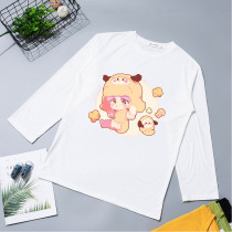 BTS T-shirt Bangtan Boys Long-sleeved T-shirt Q Version Cartoon Cute Loose Bottoming Shirt CHIMMY COOKY TATA
