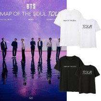 Kpop BTS T-shirt Bangtan Boys Tour Concert Map of the Soul Short Sleeve T-shirt V SUGA JUNGKOOK