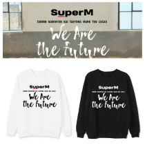 Kpop Super M Sweater WE ARE THE FUTURE Round Neck Sweater Coat Sweatershirt