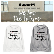 Kpop SUPER M Sweatshirt WE ARE THE FUTURE Hooded Sweater Sweatershirt