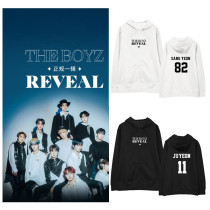 Kpop THE BOYZ Sweater New Album Hooded Sweater Korean Version Loose Jacket Hoodie  Sweatershirt