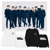 Kpop NCT127 Sweater NEW ZONE New Album Round Neck Sweater Plus Velvet Thin Top Shirt Sweatershirt