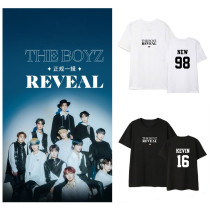 Kpop THE BOYZ T-shirt New Album Short-sleeved T-shirt Korean Version Loose Bottoming Shirt