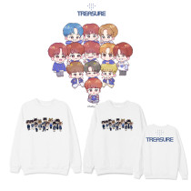 Kpop TREASURE Sweater Periphery Q Version Round Neck Sweater Street Fashion Trend Top Loose Sweatshirt