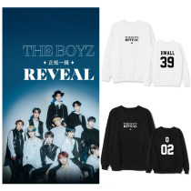 Kpop THE BOYZ Sweater New Album Round Neck Sweater Pullover Round Neck Top Loose Sweatershirt