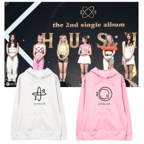 Kpop Everglow Sweater Album HUSH5 Hooded Sweater Plus Velvet Thin Coat Hoodie Sweatershirt