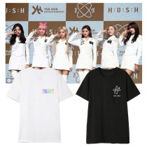 Kpop Everglow T-shirt Album HUSH5 Short Sleeve T-shirt Loose Bottoming Shirt T-shirt