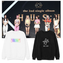 Kpop Everglow Sweater Album HUSH5 Round Neck Sweater Pullover Long-sleeved Jacket Sweatshirt