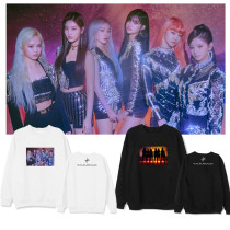 Kpop  Everglow Round Neck Sweater New Album Casual Shirt Loose Couple Sweatshirt