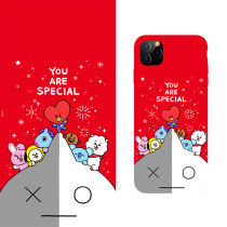 Kpop BTS Phone Case Bangtan Boys Cartoon Protective Cover for iphone11/XS Hard Shell