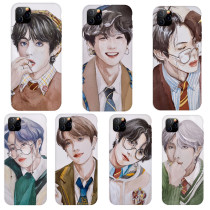 Kpop BTS Phone Case Bangtan Boys Hand-painted Mobile Phone Shell Protective Cover for iphone11/XS/XR anti-fall Hard Shell