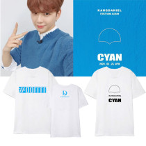 Kpop WANNA ONE Daniel T-shirt New Album CYAN Short-sleeved T-shirt Bottoming Shirt Loose T-shirt