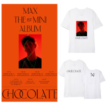 Kpop TVXQ Max Solo T-shirt Short Sleeve Korean Version Loose Fan T-shirt New Bottoming Shirt