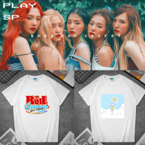 Kpop Red Velvet T-shirt Short Sleeve Loose Loose Bottoming Shirt Short Sleeve T-shirt