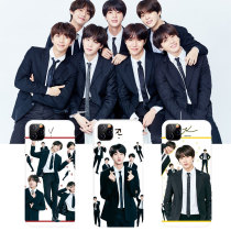 Kpop BTS Phone Case Bangtan Boys Mobile Phone Case Suitable for Apple iphoneXS/XR/11 Anti-drop Hard Shell Protective Cover