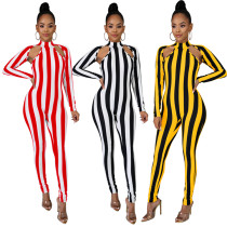 One Piece Striped Jumpsuit For Women 3370