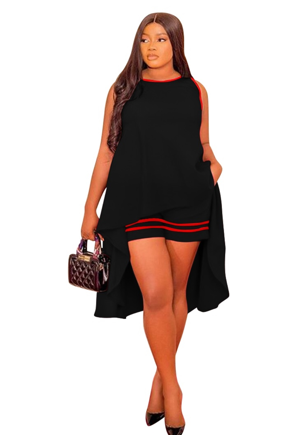 Wholesale Summer Sleeveless High Low Shirt And Matching Shorts Global Lover
