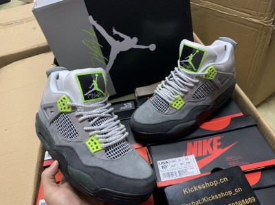 "Authentic Air Jordan 4 ""neon"""