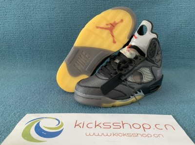 "OFF-WHITE x Air Jordan 5   ""Metallic"" With Correct Box"