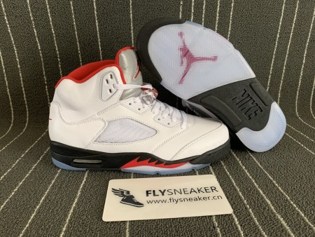 "Authentic Jordan 5s ""Fire Red"" 2020"