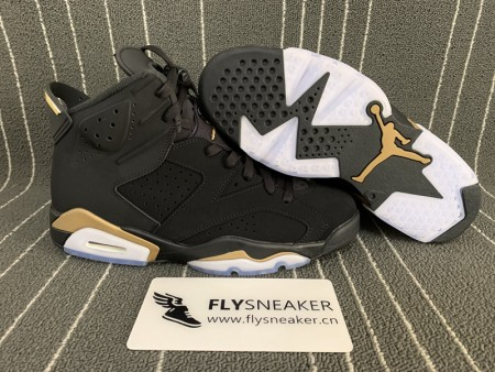 Authentic Air Jordan 6 Retro DMP Black Gold