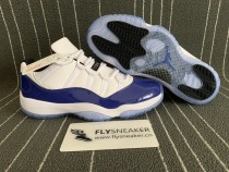 Authentic Air Jordan 11   Low White/Blue