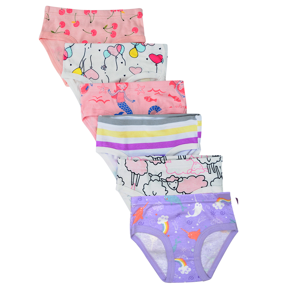 click2style Girls Kids Pack of 3 Soft Comfortable Panties Brief Cotton Underwear