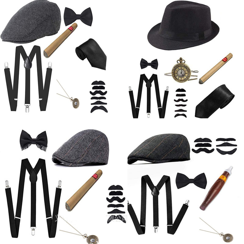 Ladies Gangster Moll 1920s Dance Adjustable Clip On Braces Fancy Dress Accessory