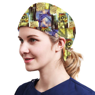 One Size Working Cap with Sweatband Adjustable Tie Back Hats Printed for Women,Print07