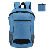 HOLY LUCK Lightweight Sport Backpack Packable Hiking Daypack Foldable Small Travel Camping Bicycle Canvas Bag for Women Men (Blue)