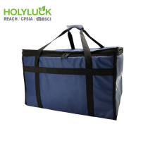 Large Capacity Pizza Carrying Bag Blue Custom Delivery Bag Cooler Bag For Motorcycle Uber Eats