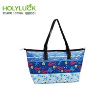 A Series Foldable Cooler Bag Shopping Bag Grocery Bag With Zipper Opening