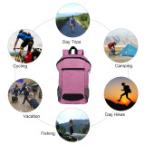 HOLY LUCK Lightweight Sport Backpack Packable Hiking Daypack Foldable Small Travel Camping Bicycle Canvas Bag for Women Men (Purple)
