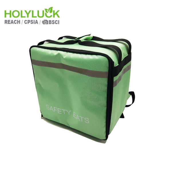 Commercial Thermal Food Delivery Backpack Bag Motorcycle Backpack With Front Openning for Uber Eats