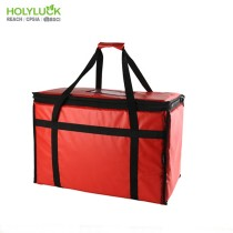 HOLY LUCK Extra Large Waterproof Food Delivery Backpack Reusable Food Bike Delivery Bag