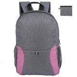 HOLY LUCK Lightweight Sport Backpack Packable Hiking Daypack Foldable Small Travel Camping Bicycle Canvas Bag for Women Men (Purple))