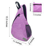 HOLY LUCK Sling Backpack Shoulder Chest Crossbody Bag Triangle Bicycle Camping Hiking Daypack for Men women