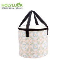 Eco Friendly Custom Food Delivery Bag Portable Insulated Lunch Cooler Bag WIth Circle Shape