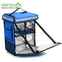 Holy Luck Front Opening Food Delivery Bag Reusable Ultimate Grocery Bag With Side Pocket