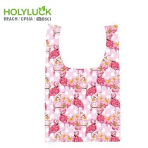 Pretty Soft Grocery Bag Plain Recycled Tote Bag Foldable Shopping Bag With Pocket