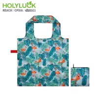 Multi Design Foldable Eco-Friendly Shopping Bag Flamingo Printing Grocery Bag Reusable